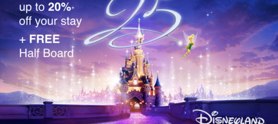 Up to 20% off and FREE Half Board at Disneyland Paris with Holiday Hamster