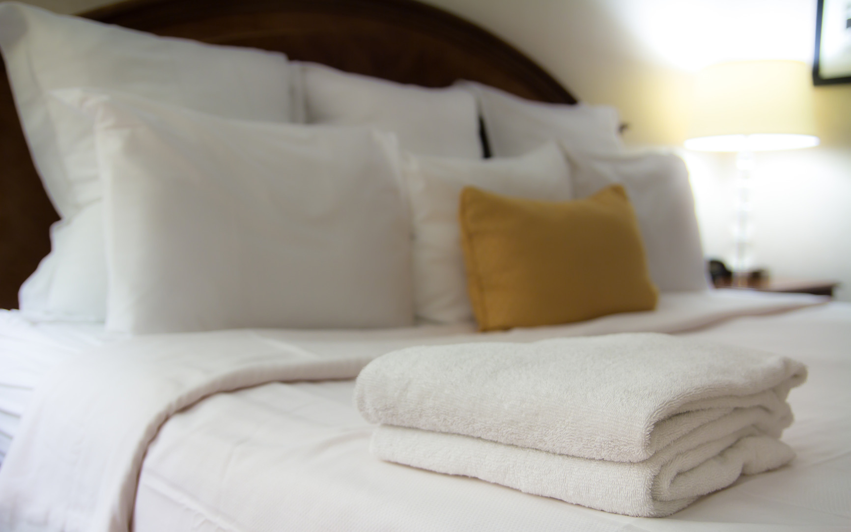 Bed in hotel room • Accommodation Only by Holiday Hamster