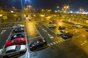 Car park at night • Airport Car Parking by Holiday Hamster