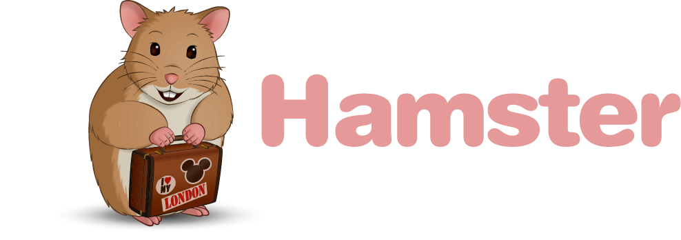 Logo for Holiday Hamster, a UK based ATOL Protected Travel Agent