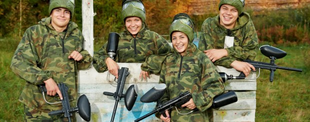 Group going Paintballing, a Gift Experience by Holiday Hamster