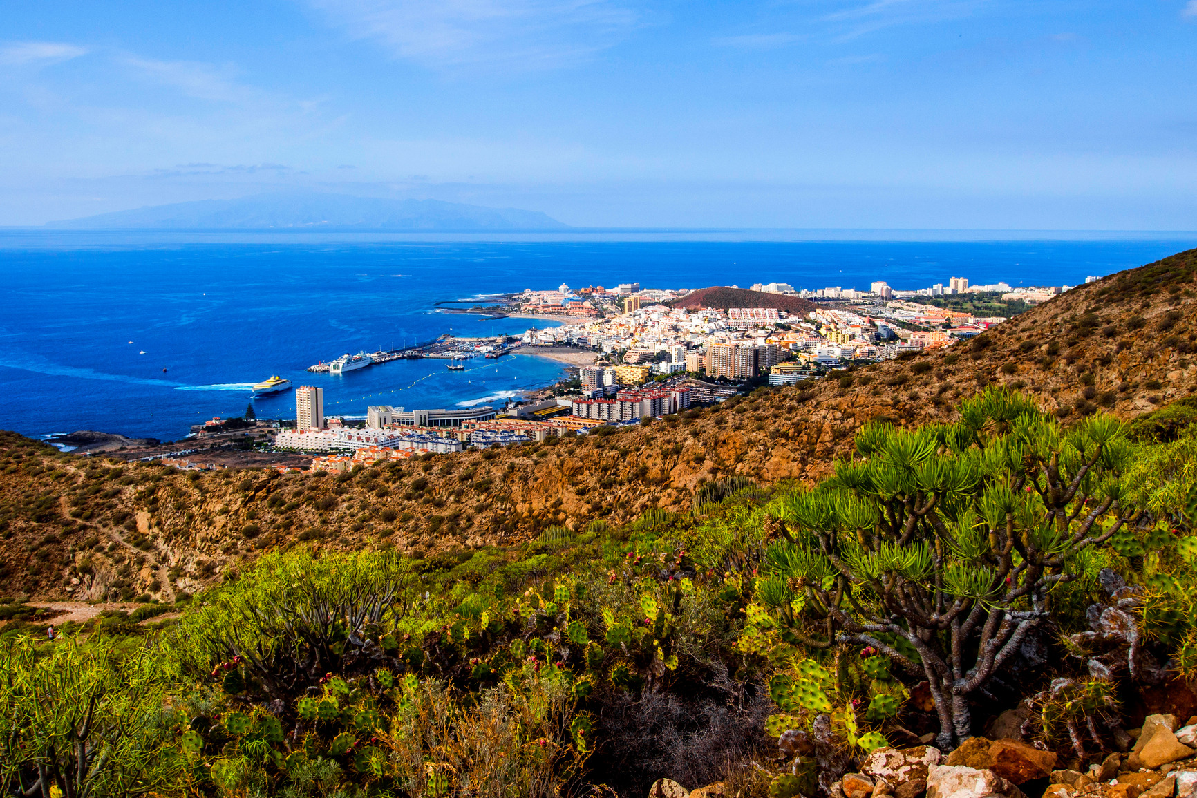 View from Guaza mountain, Tenerife, Canary Islands, Spain, Europe