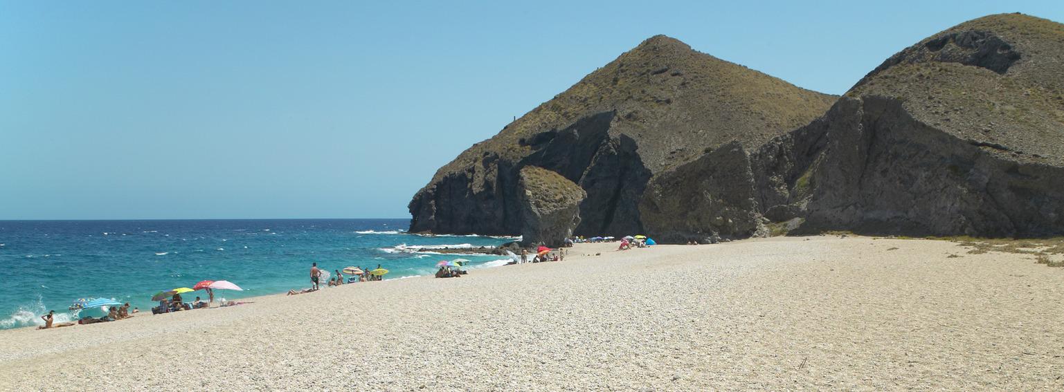 Almeria Beach by Holiday Hamster
