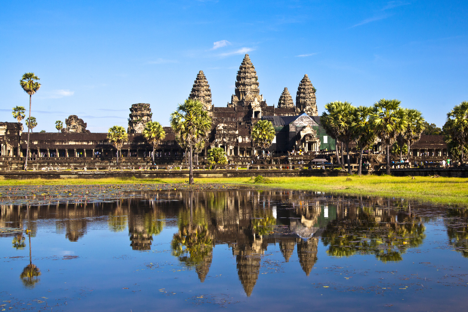 Angkor Wat, Cambodia as seen from across the lake