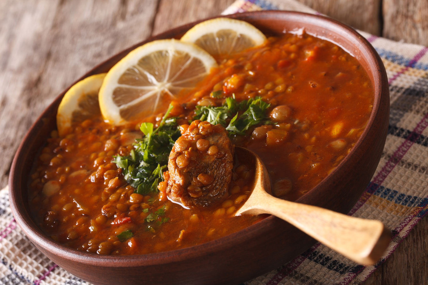 Arabic Cuisine: Harira Soup in a Bowl