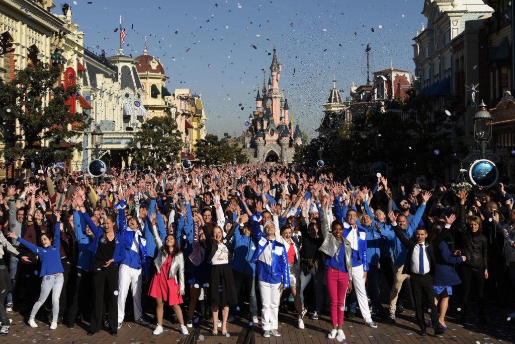 Cast Members at the Disneyland Paris 25th Grand Celebration