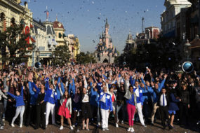 Cast Members at the Disneyland Paris 25th Grand Celebration