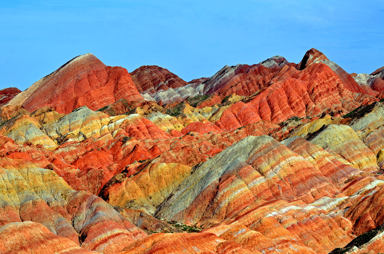 Colourful Mountains at Zhangye, China