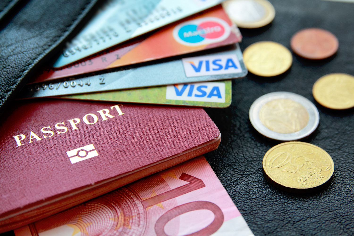 Credit and Debit Cards, Passport and Money