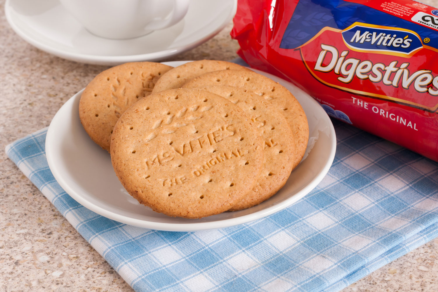 Digestive Biscuits Served on a Plate Atop a Napkin