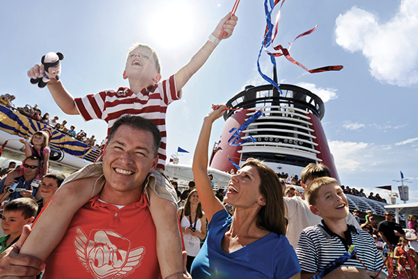 Family having fun on a Disney Cruise Line with Holiday Hamster