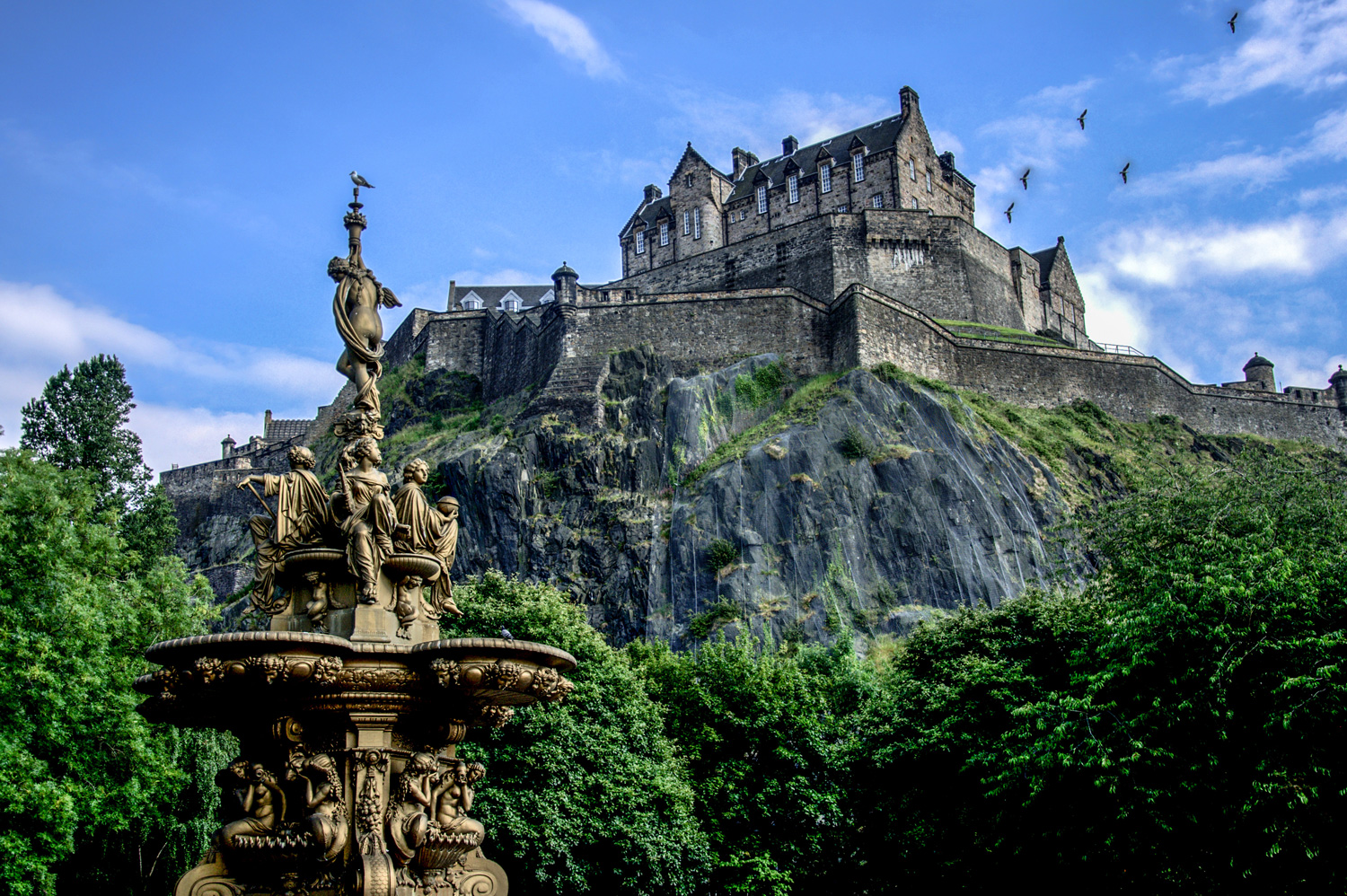 Edinburgh Castle during summer, Scotland