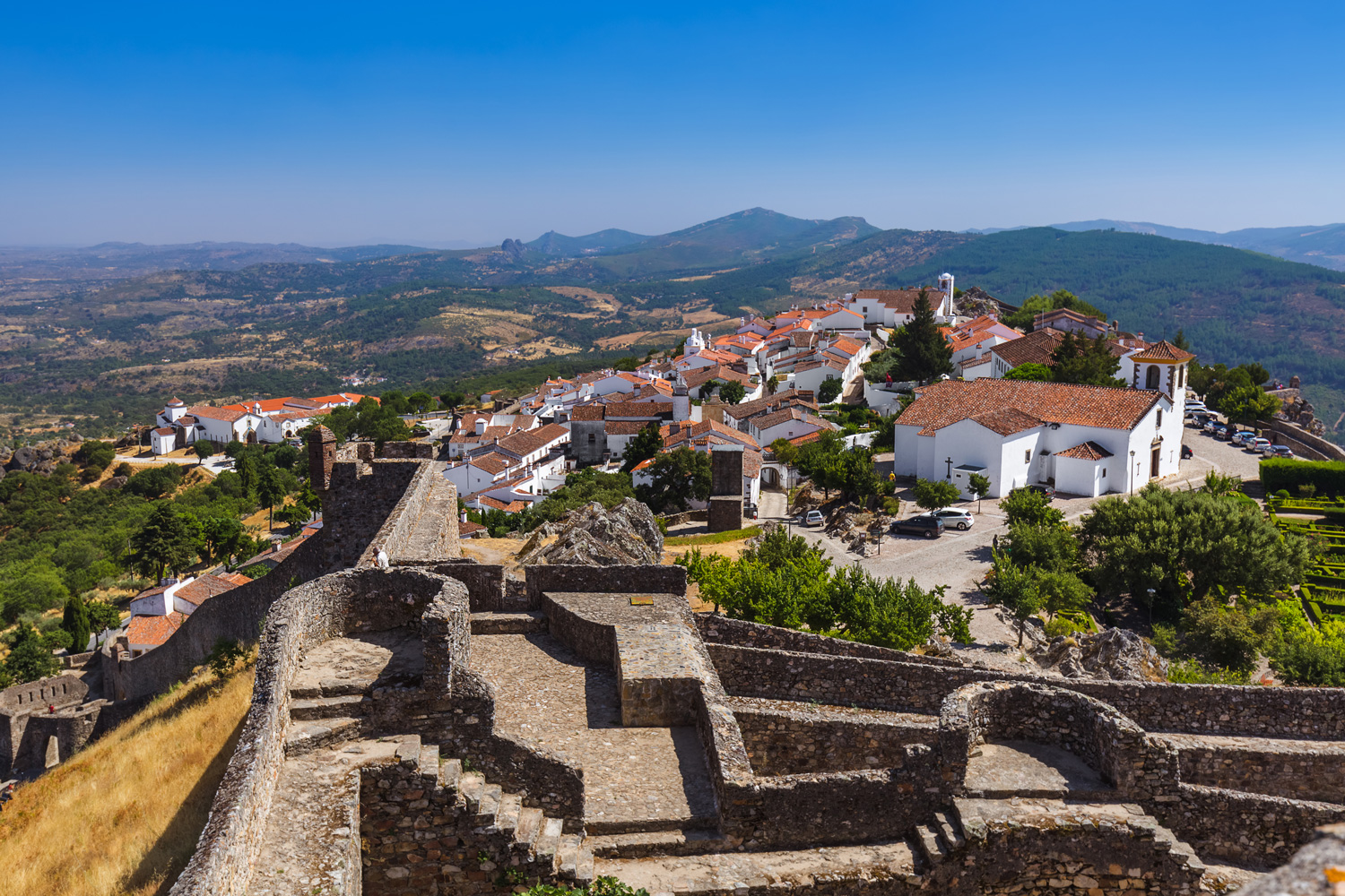 Fortress in village Marvao, Portugal