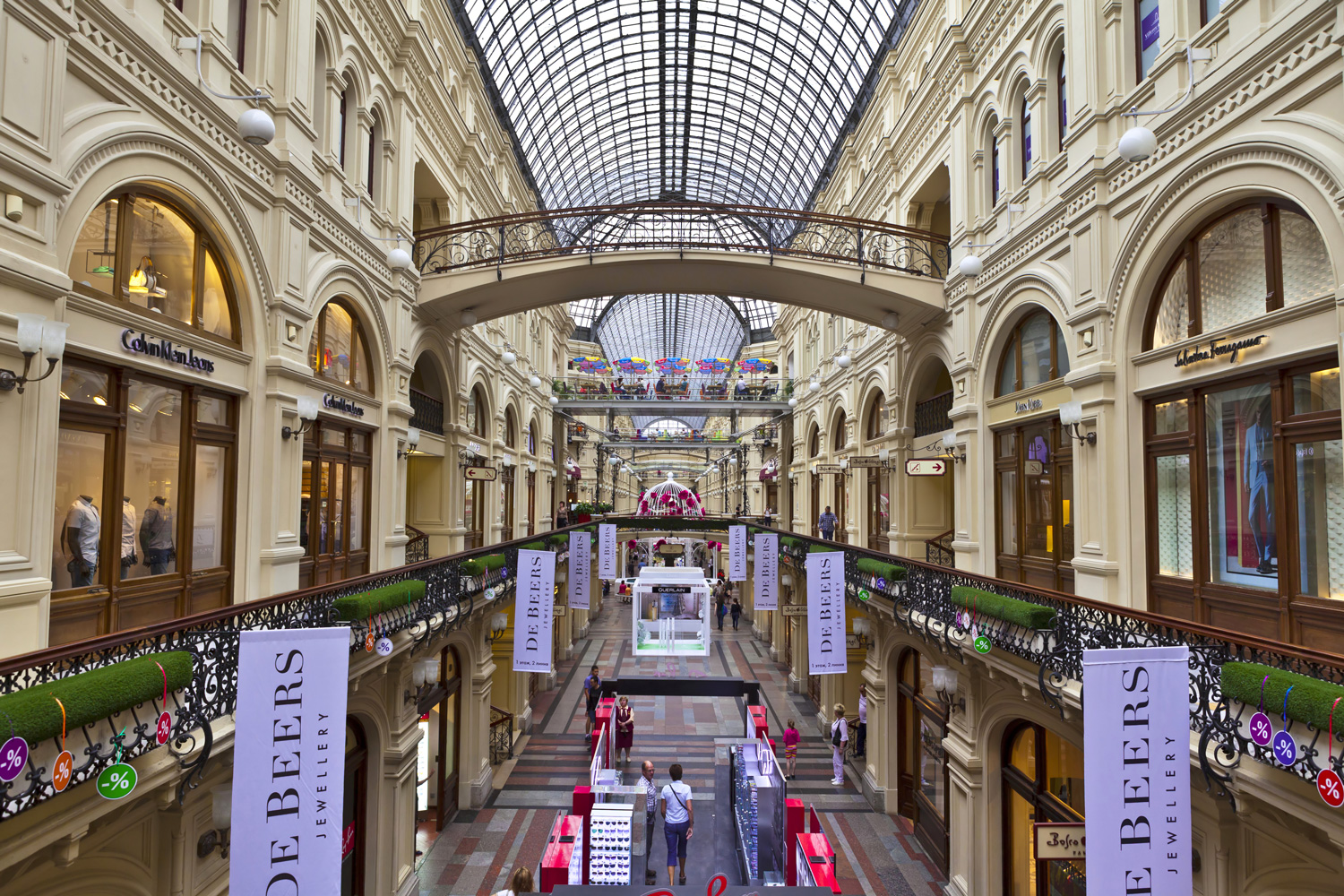 Inside the famous GUM, a shopping mall in Moscow