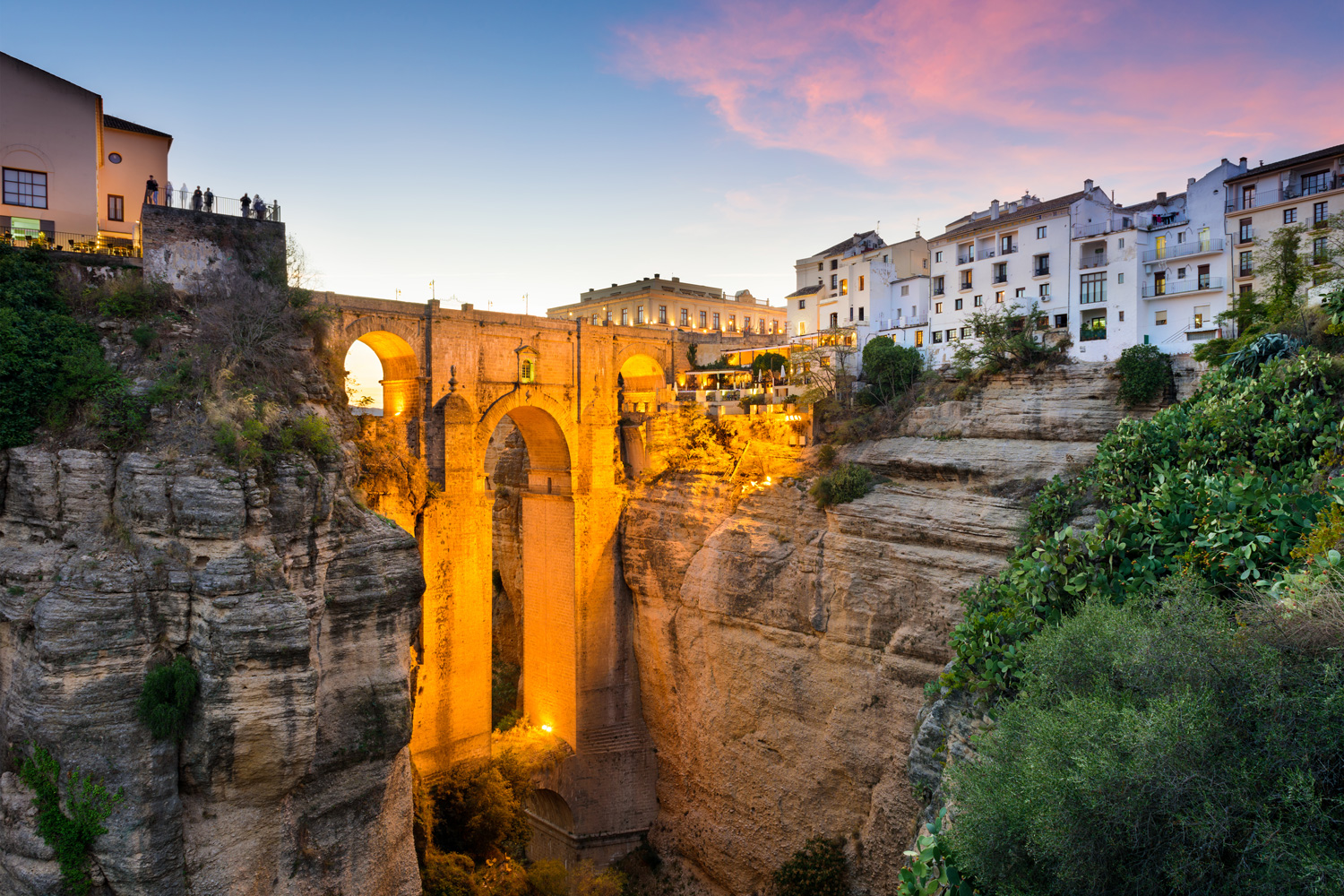 Puente Nuevo Bridge over the Tajo Gorge, Ronda, Spain