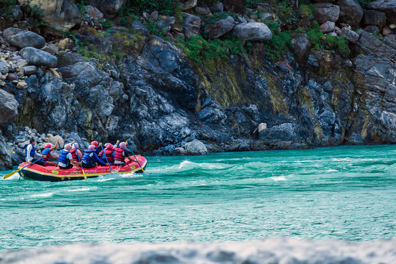Rafting on the Ganges River in Rishikesh, India