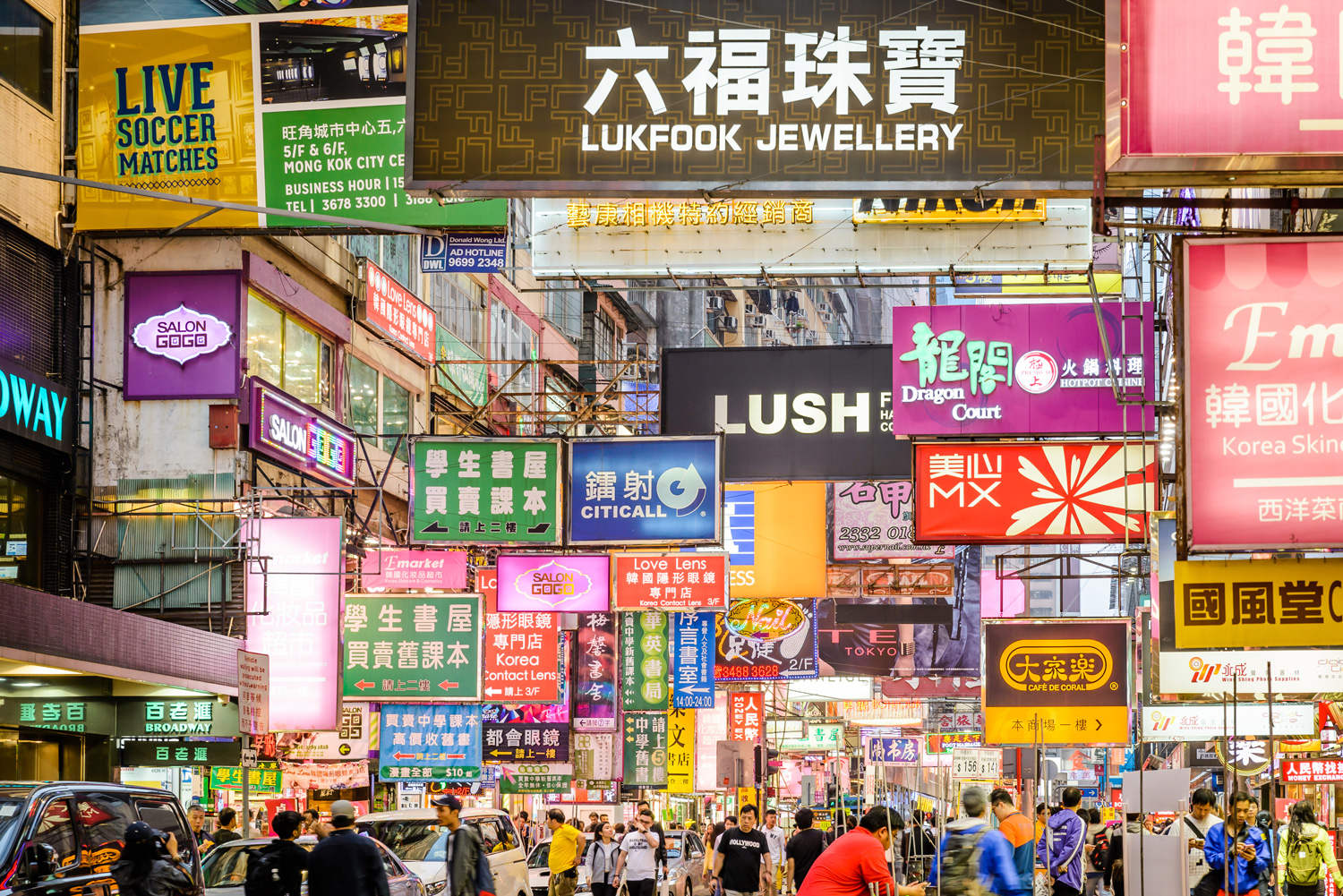 Shopping in Mong Kok, Hong Kong