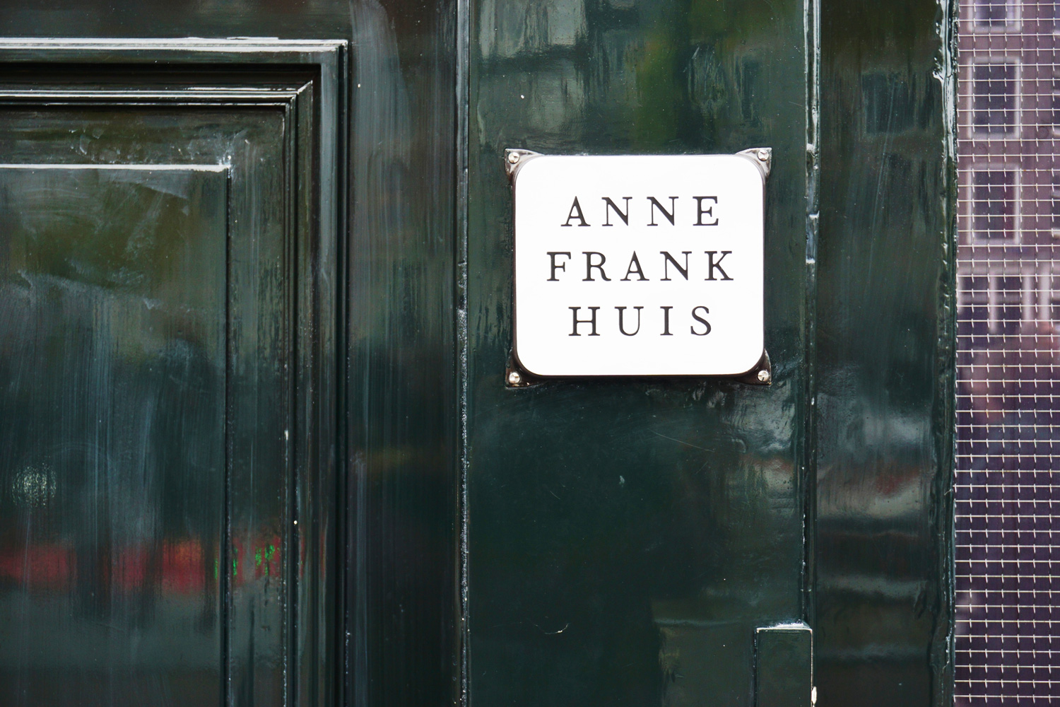 The Anne Frank house located on Prinsengracht in Amsterdam