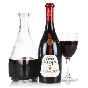 Bottle of red French Wine