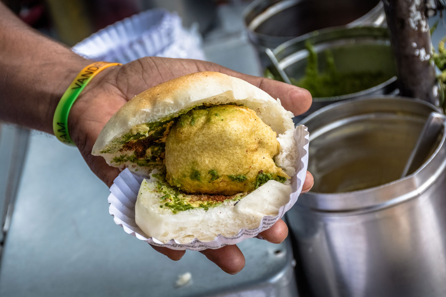 Vada Pav is a Popular Indian Street Food from Mumbai