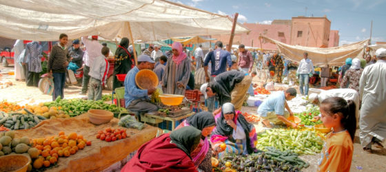 Weekmarket in the City of Marrakech, Morocco