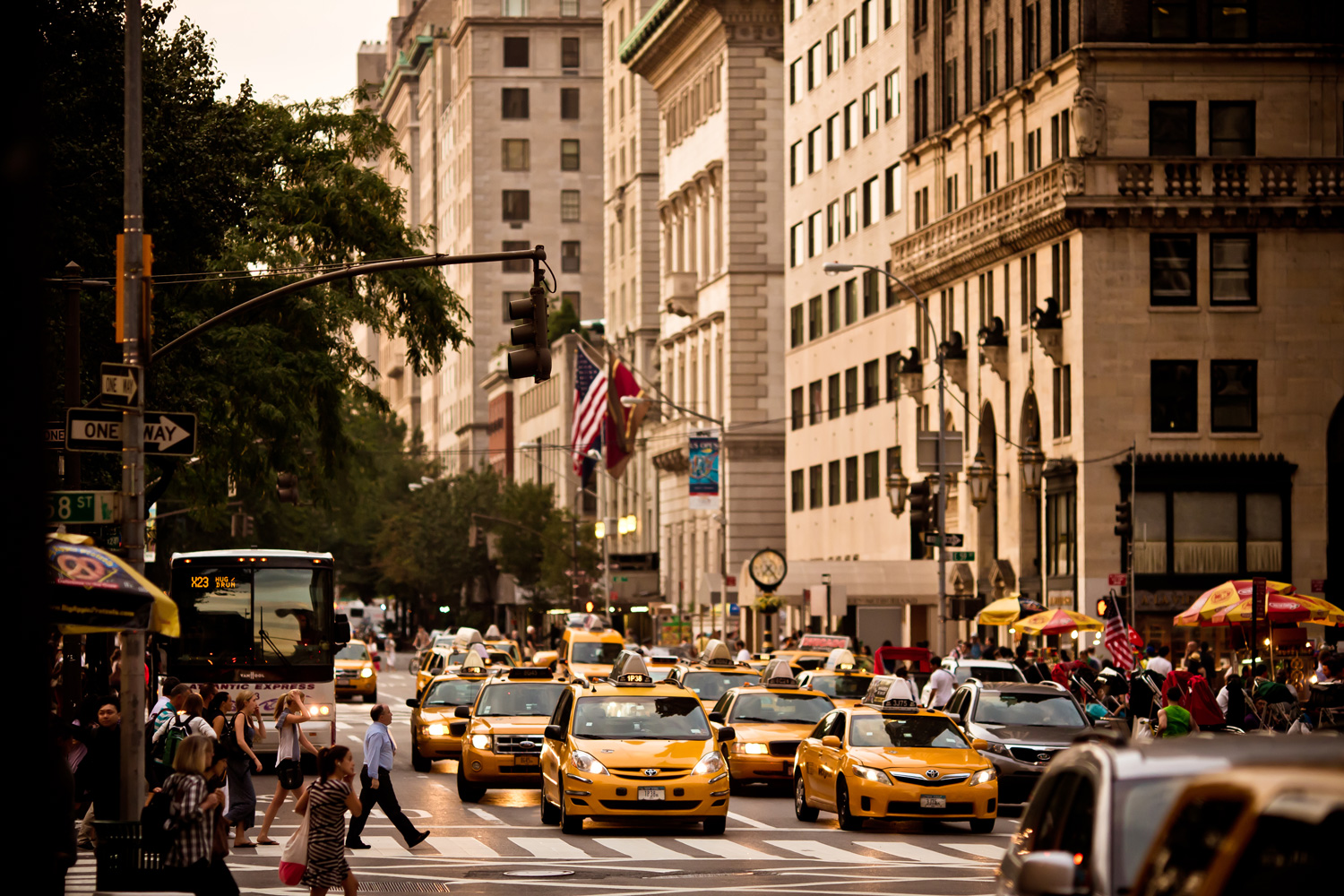 Yellow taxis on 5th Avenue, New York